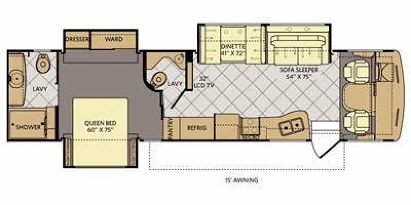2013 FLEETWOOD Bounder 36R Floorplan