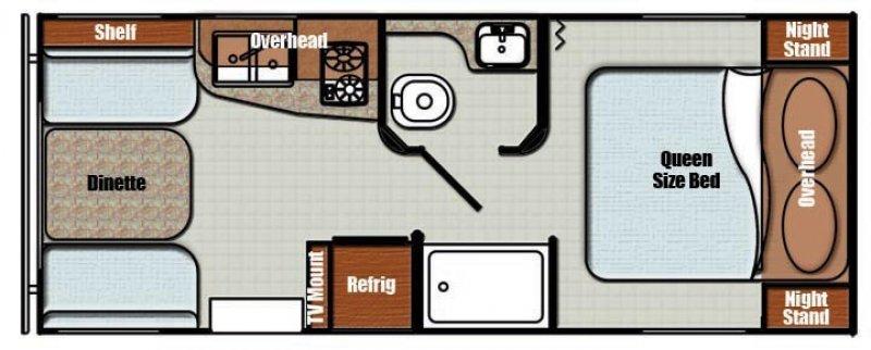 2021 GULFSTREAM VINTAGE CRUISER 19ERD Floorplan