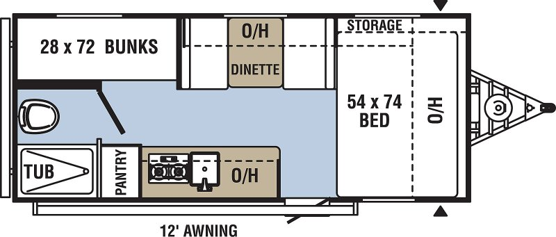 2020 COACHMEN CLIPPER CADET 17CBH Floorplan