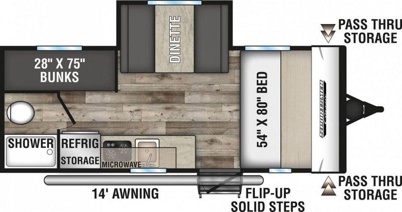 2021 KZ RV LTD. SPORTSMEN CLASSIC 181BH Floorplan