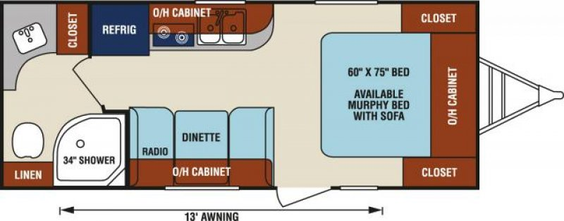 2019 KZ RV LTD. SONIC SN190VRB Floorplan