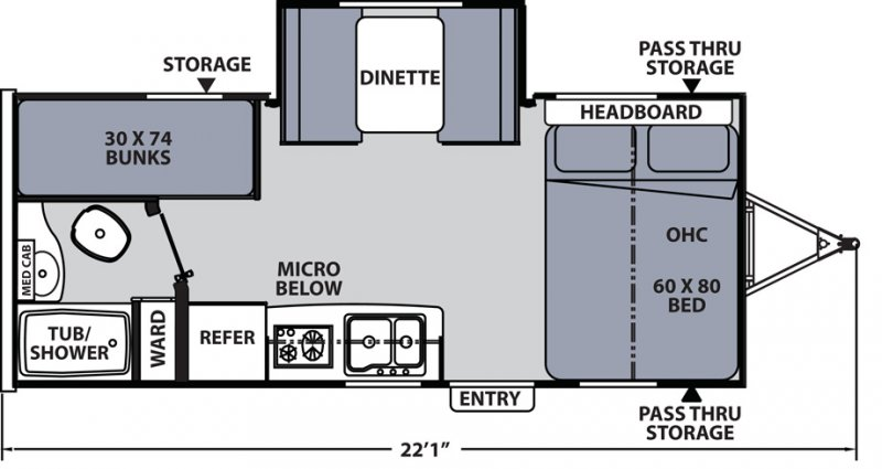 2020 COACHMEN APEX NANO 193BHS Floorplan