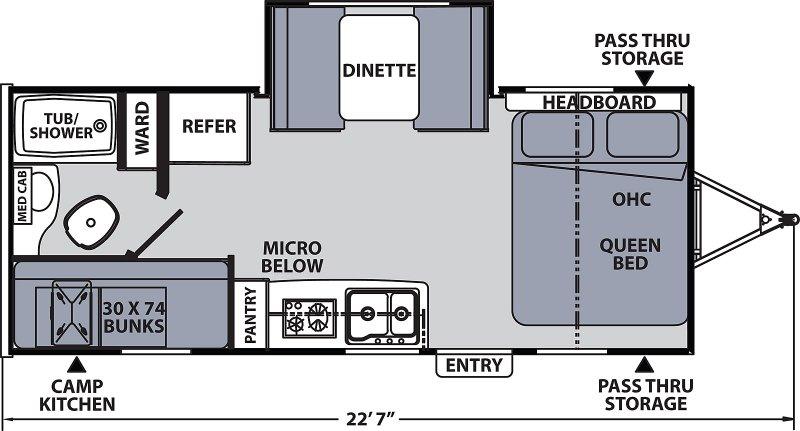2022 COACHMEN APEX NANO 194 BHS Floorplan
