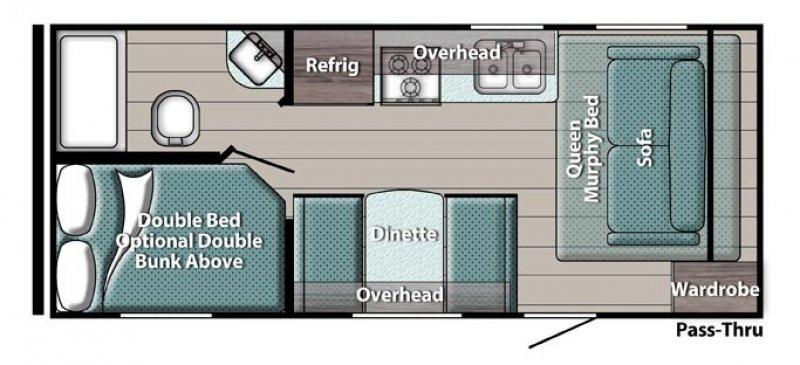 2022 GULF STREAM KINGSPORT SUPER LITE 197BH Floorplan