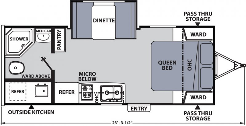 2020 COACHMEN APEX NANO 203 RBK Floorplan