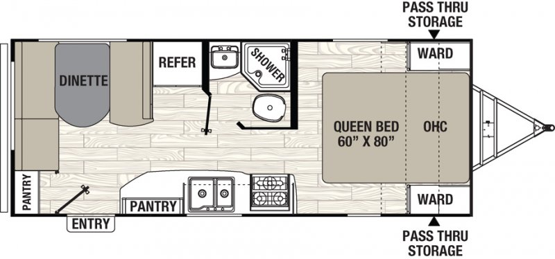 2020 COACHMEN FREEDOM EXPRESS 204 RD Floorplan