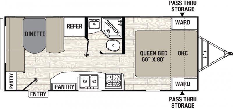 2020 COACHMEN FREEDOM EXPRESS 204 RD Floorplan