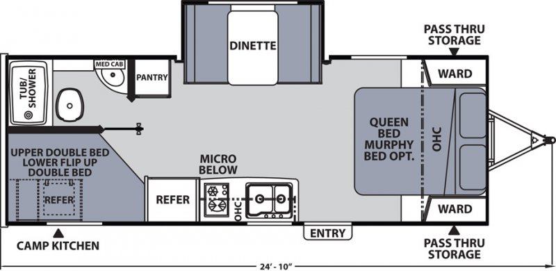 2020 COACHMEN APEX NANO 208 BHS Floorplan