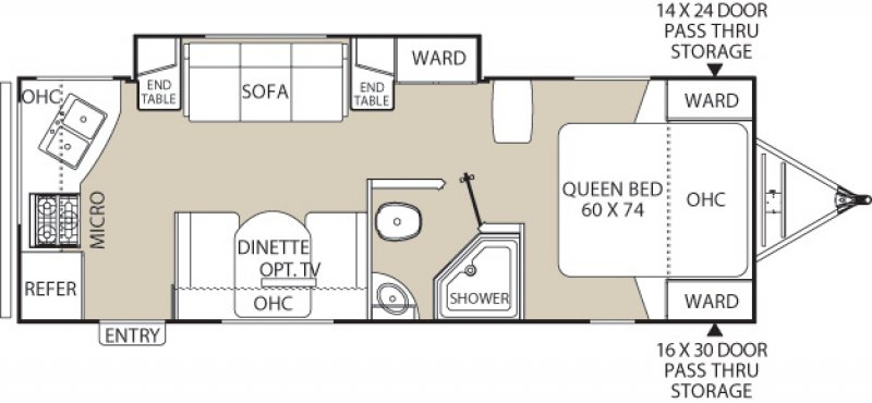 2021 COACHMEN FREEDOM EXPRESS 246 RKS Floorplan