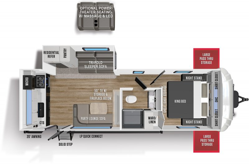 2021 FOREST RIVER WILDCAT MAXX 247 RKX Floorplan