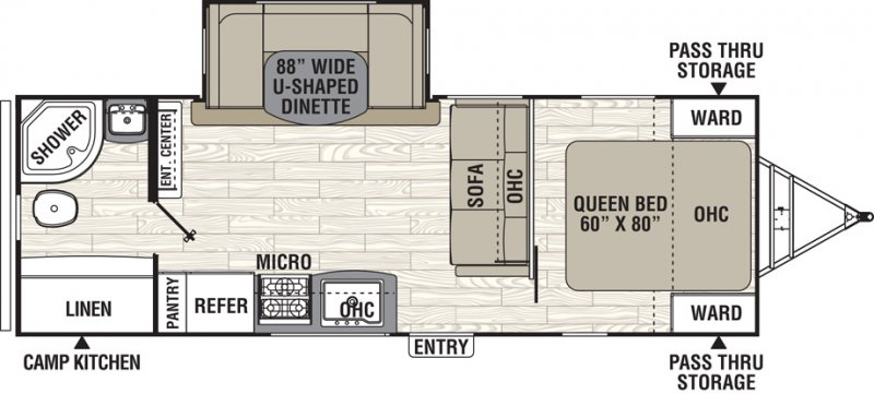 2019 COACHMEN FREEDOM EXPRESS 248 RBS Floorplan