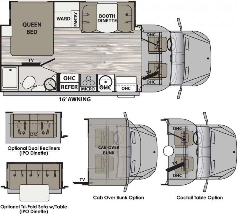 2020 DYNAMAX ISATA 3 24FW Floorplan