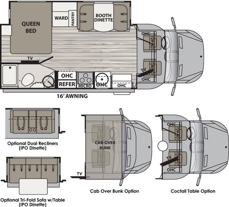 2017 DYNAMAX ISATA 3 24FW Floorplan