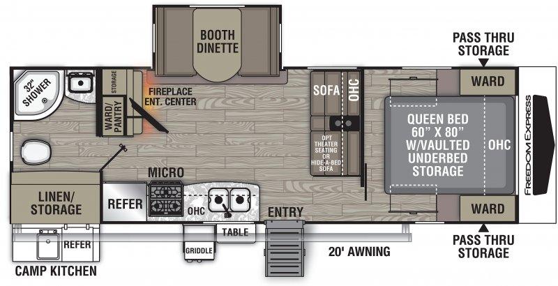 2022 COACHMEN FREEDOM EXPRESS 252RBS Floorplan