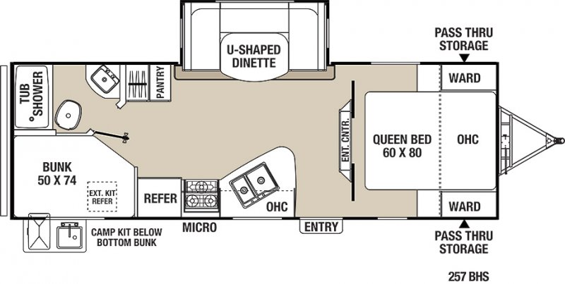 2021 COACHMEN FREEDOM EXPRESS 257BHS Floorplan