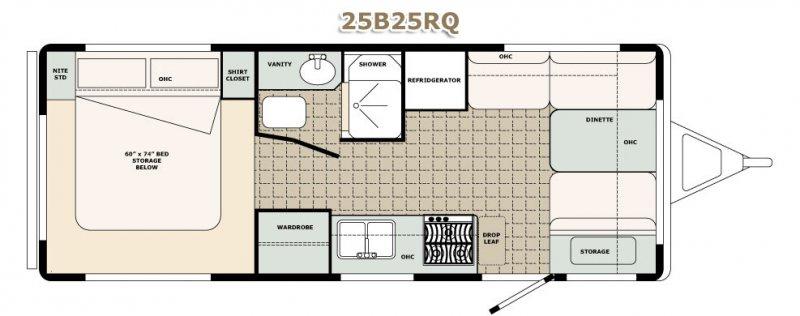 2022 BIGFOOT RV BIGFOOT 2500 25RQ Floorplan
