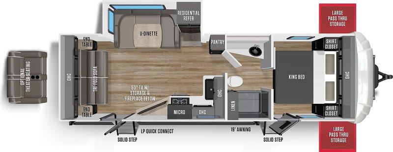 2021 FOREST RIVER WILDCAT MAXX WCT262RSX Floorplan