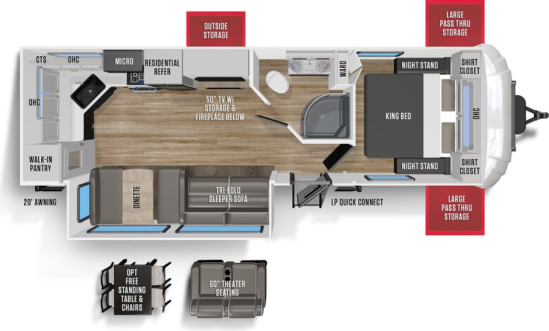 2021 FOREST RIVER WILDCAT MAXX 266 MEX Floorplan