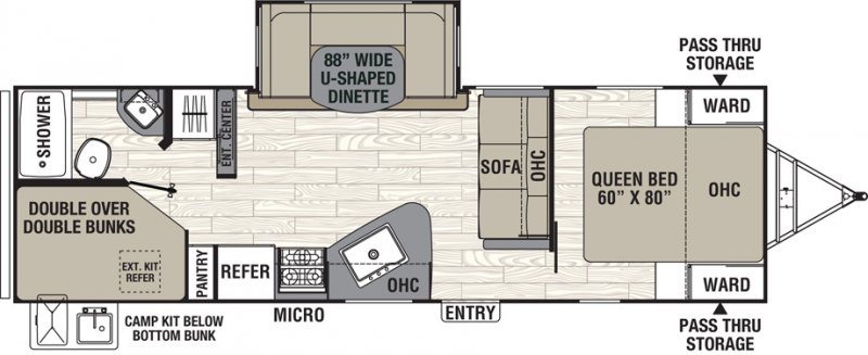 2021 COACHMEN FREEDOM EXPRESS 257 BHS Floorplan