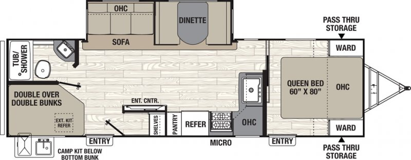2021 COACHMEN FREEDOM EXPRESS 287 BHDS Floorplan