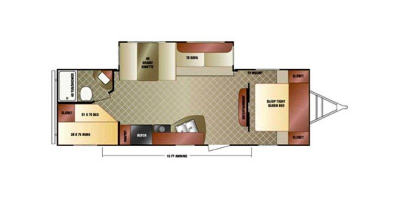 2014 VENTURE RV SPORT TREK 270VBH Floorplan