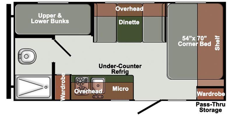 2022 GULFSTREAM ENVISION ET18RBD Floorplan