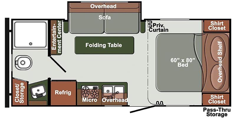 2021 GULFSTREAM SVT 90 ENVISION ET21QBS Floorplan