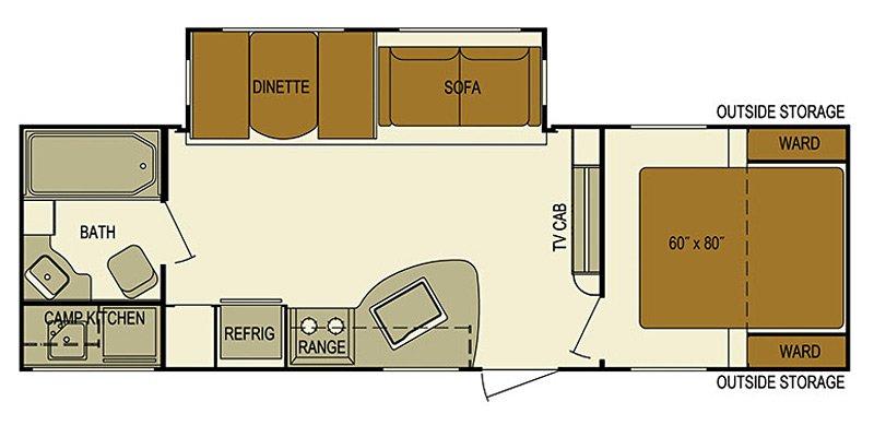 2016 SKYLINE JAVELIN 275RC Floorplan