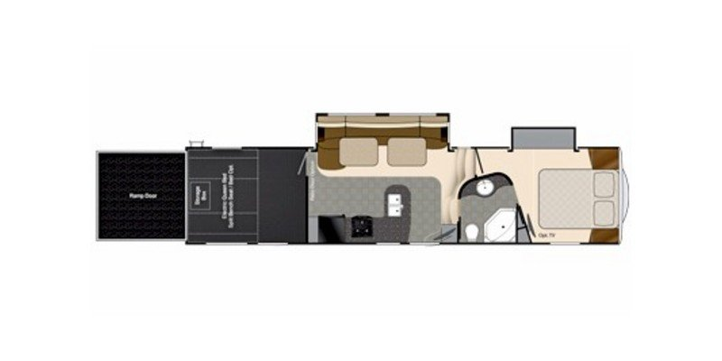 2014 HEARTLAND ROAD WARRIOR 30C TITANIUM Floorplan