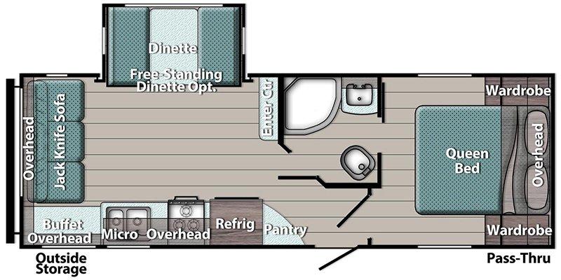2021 GULFSTREAM TRAILMASTER 236RL Floorplan