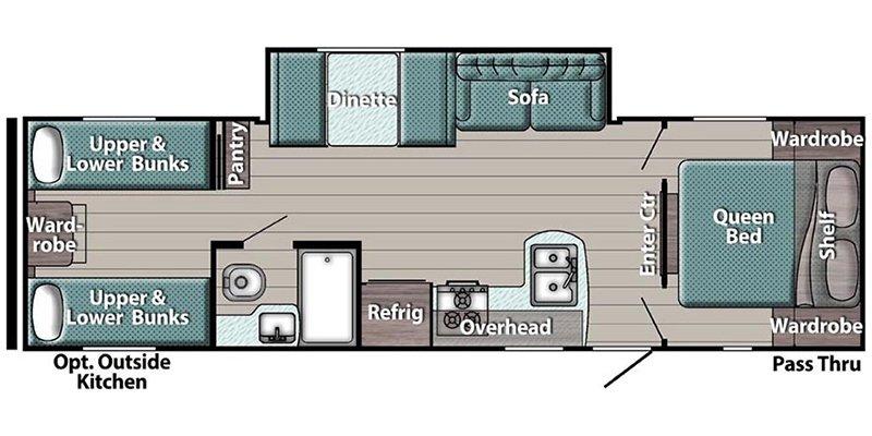 2021 GULFSTREAM TRAILMASTER 279BH Floorplan