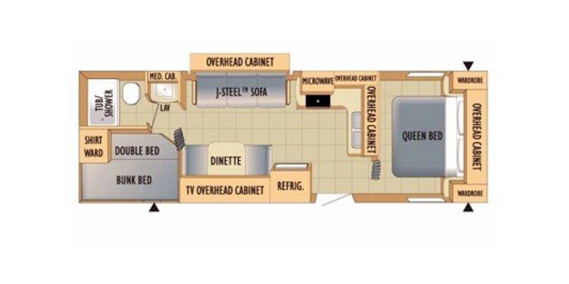 2010 STARCRAFT AUTUMN RIDGE 297BHS Floorplan