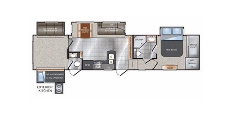 2013 KEYSTONE AVALANCHE 341TG Floorplan