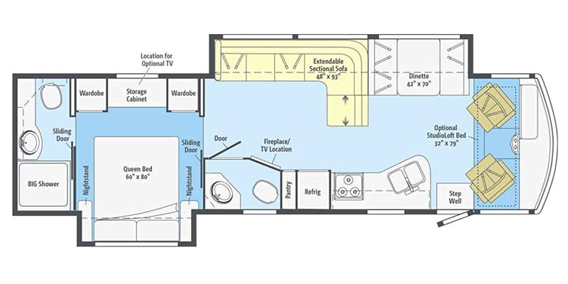 2015 WINNEBAGO RV VISTA 35F Floorplan