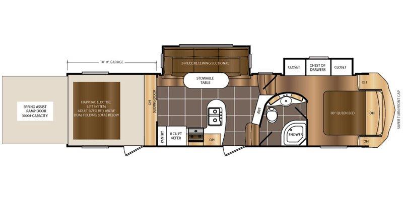 2016 PRIME TIME SPARTAN 3210 Floorplan