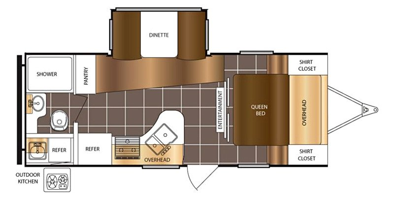 2016 PRIMETIME TRACER 230FBS Floorplan