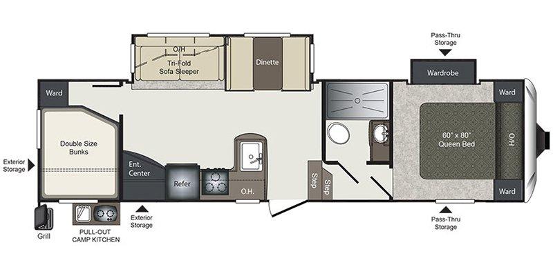 2017 KEYSTONE LAREDO 285SBH Floorplan