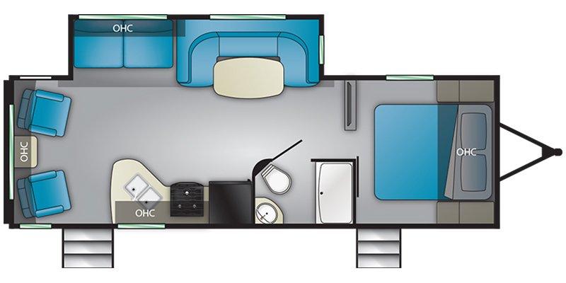 2019 HEARTLAND PIONEER 250RL Floorplan