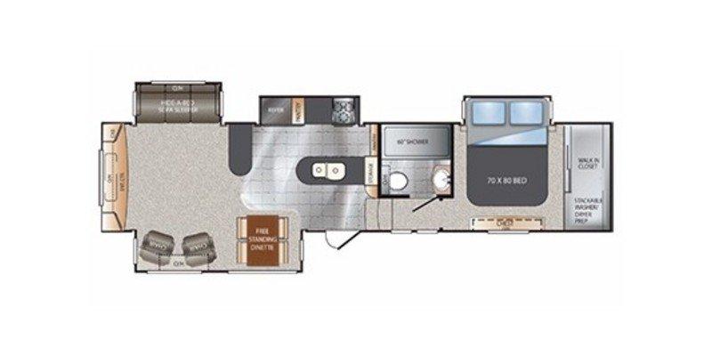 2014 KEYSTONE RV ALPINE 3500 RE Floorplan