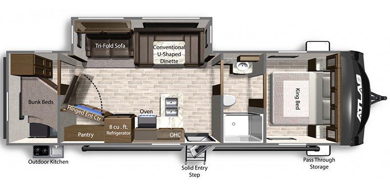 2021 DUTCHMEN ATLAS 2902BH Floorplan