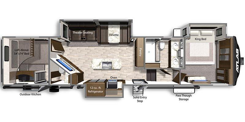 2021 DUTCHMEN ATLAS 3602FLKB Floorplan