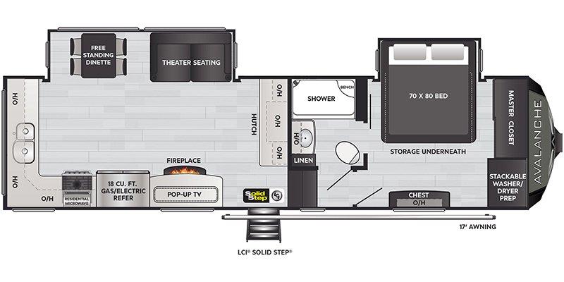 2021 KEYSTONE RV AVALANCHE 295RK Floorplan