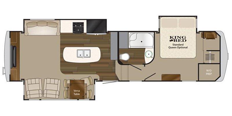 2014 HEARTLAND BIG COUNTRY 3070RE Floorplan