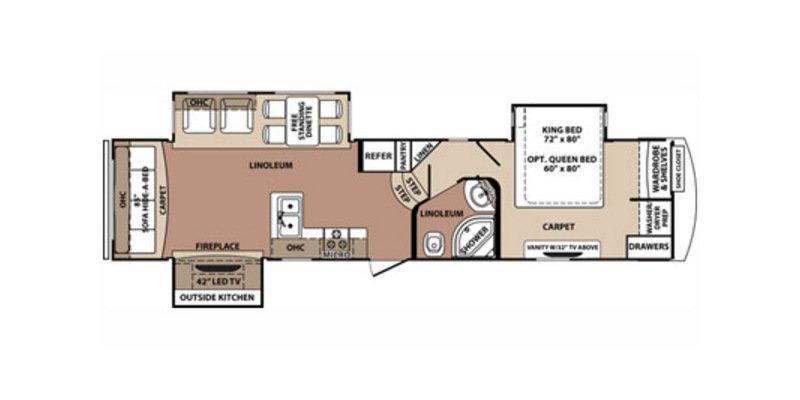 2014 FOREST RIVER BLUERIDGE BLF3125 Floorplan