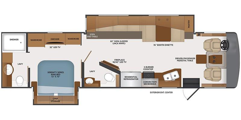 2021 FLEETWOOD BOUNDER 35K Floorplan