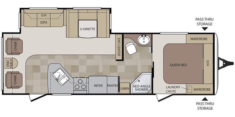 2012 KEYSTONE RV COUGAR 27RLS Floorplan