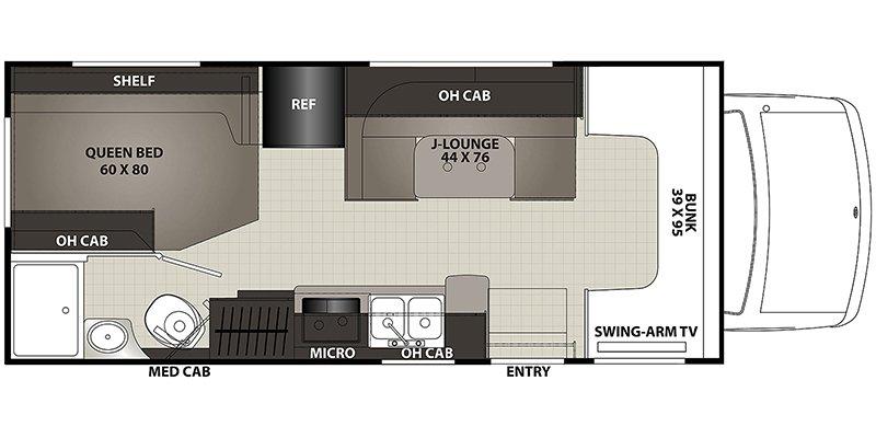 2021 COACHMEN CROSS TRAIL 22XG Floorplan