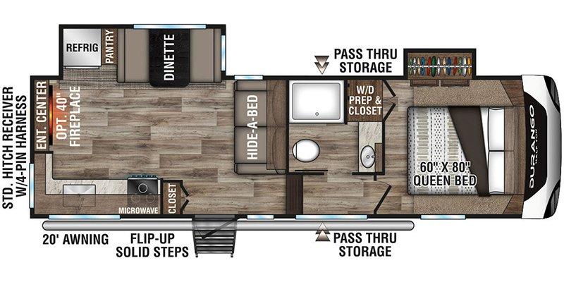 2021 KZ-RV DURANGO 250RED Floorplan