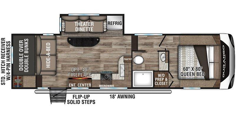 2021 KZ-RV DURANGO 275BHS Floorplan