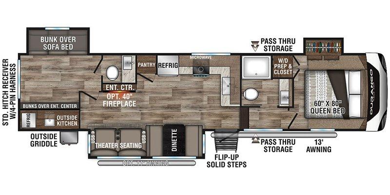 2021 KZ-RV DURANGO 291BHT Floorplan